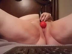 Cute young big tit strokes cock with purpose Thumb
