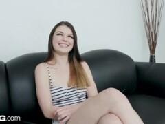 BANG Casting - Teen slut Anastasia Rose gets a rough fuck Thumb