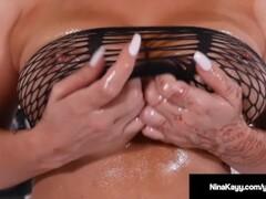 Hot Nina Kay Fucks Hitachi Till She Cums So Hard She Squirts Thumb