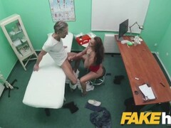 Fake Hospital Sexy ass patient with shaven pussy rides doctors cock Thumb