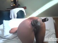 Brutal anal fisting and whiskey bottle fuck Thumb