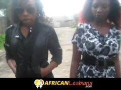 Young black lesbians fingering in Africa Thumb