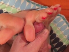 Have You Got A Foot Fetish? Jerk To My Feet - Footjob Cumshot Compilation Thumb