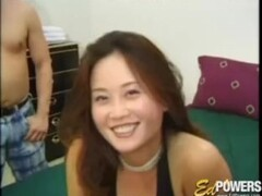 Sexy Asian babe has her first interracial threesome sex Thumb