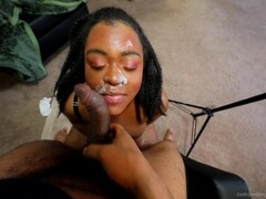 Jade Jordan - Sloppy And Messy Blowjob Facial Thumb