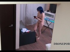 Czech cosplay teen - Naked ironing. Voyeur porn video Thumb