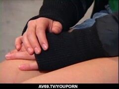 Real Japanese milf, intense sex with young partner - More at 69avs.com Thumb