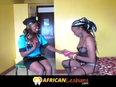 Ebony lesbians from African play dressup Thumb