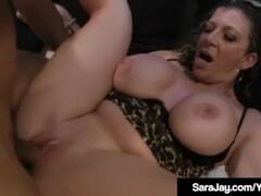 Sara Jay Fucks Cock With Sara Jay Fleshlight & Her Pussy! Thumb
