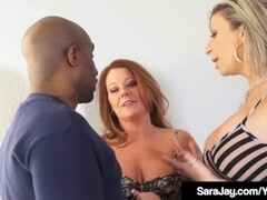 PAWG Milfs Sara Jay & Kate Faucett Fucked By Big Black Cock! Thumb