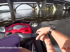 Public anal ride on the jet ski in the city centre. Mia Bandini Thumb