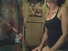 Hot amateur wife watches me piss then sucks me off,unedited,oral creampie.. Thumb
