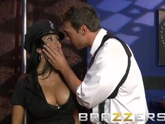Brazzers - Naughty Cop Ava Addams shows off uniform and her big tits Thumb