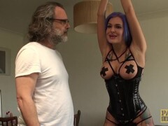 Goth subslut Alexxa Vice ass roughly dicked while using toys Thumb