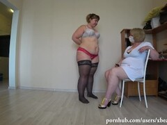 bbw at the reception of a mature nurse gets an orgasm from fisting, pov. Thumb