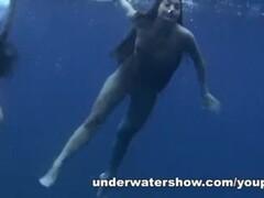 THREE GIRLS SWIMMING NUDE IN THE SEA Thumb