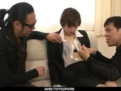 Akina Hara shows proper blowjob before fucked hard - More at 69avs.com Thumb