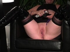 Submissive MILF Slave Wife Putting on a show getting her Tits and Pussy Whipped Thumb