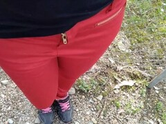 Pee on my new red jeans outdoor Thumb
