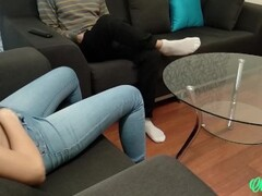 Ripped her jeans and fucked a teen after footjob Thumb