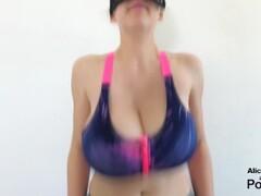Tittyfucking so good he Cums in my Sport Bra Thumb