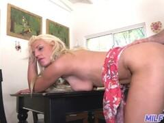 MILF Trip - Blonde MILF sucks cock and fucks in the kitchen - Part 2 Thumb