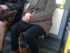Mature with pretty high heels and pantyhose in the bus 4 Thumb