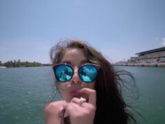 GIRLS GONE WILD - Allison Banks Cumming With A Finger Up Her Ass Outdoors! Thumb