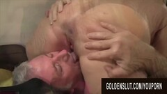 Golden Slut - Eating Mature Pussy Compilation Part 2 Thumb