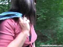 Slutwife Marion gangbanged by many strangers at the highway Thumb