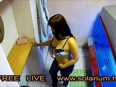 Reallifecam in real public tanning Salon Thumb
