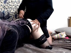 Petite Goth Teen Gets Cream Pied With Butt Plug Thumb