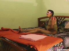 Desi Horny Indian Bhabhi Amrita With Young Lover Passionate Fucking Thumb
