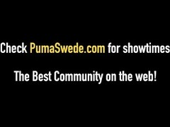 Blonde Pipe Cleaner Puma Swede Fucks The Plumber! Thumb