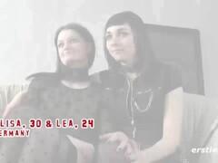 Amateur Lesbians Into Light Bondage Lick each other Thumb