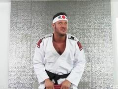 Big Boob Blonde Brett Rossi Prefers Karate Cock over Cucked Husband's Thumb
