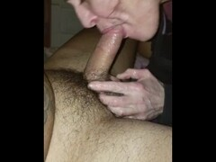 Sloppy edging deep throat nasty big cock blowjob Thumb