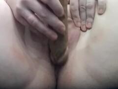 Real Amateur masturbate with big dildo Thumb
