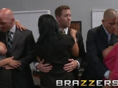 BRAZZERS - Two busty blondes, Lexi Swallow & Nicole Aniston, get fucked in office 4some Thumb