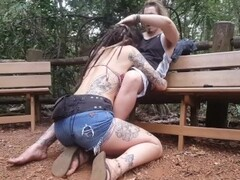 ORAL and FACIAL in a PUBLIC park - ALMOST GET CAUGHT - Dread Hot Thumb