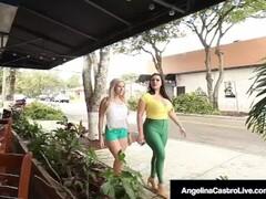 Cuban BBW Angelina Castro StrapOn Bangs Latina Cristi Ann! Thumb