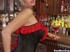 Glamorous MILF Masturbates At The Bar Thumb