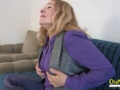 OldNannY Horny Mature Sofia Playing with Herself Thumb
