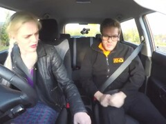 Fake Driving School Voluptuous redhead fucks in car Thumb