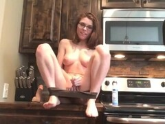 Babysitter with perky tits masturbate in my kitchen Thumb