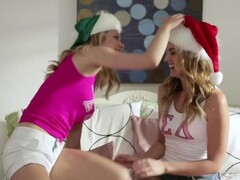 GIRLS GONE WILD - Horny Sorority Sisters Celebrate Christmas With Hot Lesbian Sex Thumb