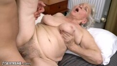 Deep Fucking Her Hairy Pussy with Dildo Thumb