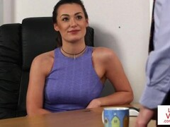 Office femdom instructs sub to jerk till cum Thumb