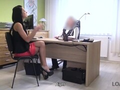 LOAN4K. Tricky loan agent is ready to help chick for sex services Thumb